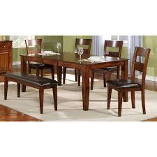 mango 6 piece dinette set with bench bernie u0026 phyl u0027s furniture