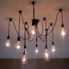 Light Bulb Chandelier Diy 8 Arm Mordern Nordic Retro Edison Bulb Chandelier Vintage Loft