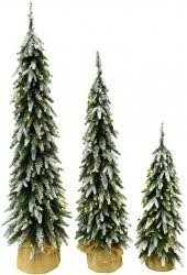 member s set of 3 alpine trees choice of flocked or