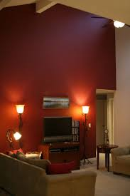 Bedroom With Red Accent Wall - pretty accent wall with red furniture in red a 5732 homedessign com