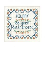 retirement card retirement card cross stitch kit with shiny coppery