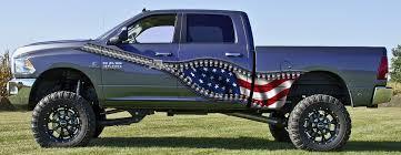 Confederate Flag Pickup Truck Zipper Illusion Side Wave American Flag 3 U2013 Wrap Graphics Vehicles