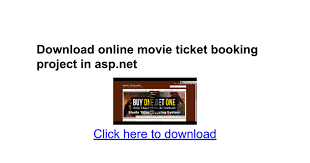 download online movie ticket booking project in asp net google docs
