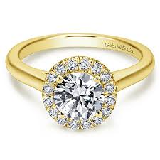 gold halo engagement rings 14k yellow gold halo engagement ring er7265y44jj