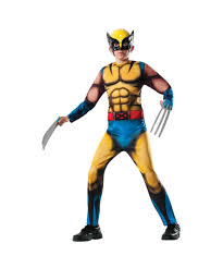 wolverine boys muscle shirt and claws boys costume set boys