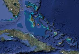 Satellite View Map Image Of Bahamas