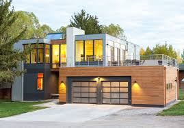 modern open plan home in jackson hole reduces construction waste