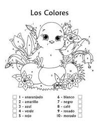 Thanksgiving Color By Number Color By Numbers In Spanish Thanksgiving Worksheet Spanish
