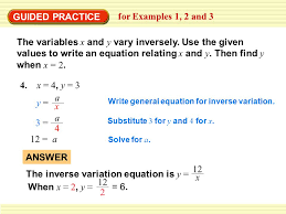 example 1 classify direct and inverse variation ppt video online