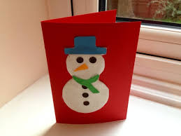 snowman christmas card my kid craft