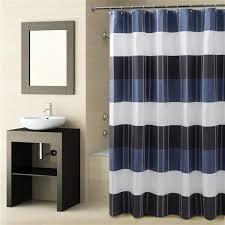 Shower Curtain Blue Brown Fairfax Navy Shower Curtain