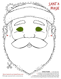 here u0027s a jolly santa mask to cut out and color find more fun