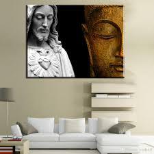 livingroom art 2017 zz459 modern canvas art christ vs buddha canvas pictures oil