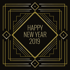 art deco style happy new year in art deco style download free vector art stock