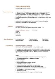 Financial Analyst Resume Example by Graduate Financial Analyst Cv Example Click To See The Pdf Version