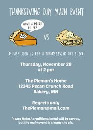comical thanksgiving pictures diy printable thanksgiving day pie invite