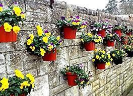 Flower Pot Holders For Fence - pack of 12 plant pot holder rings to hang 6