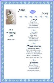 Wedding Menu Template Wedding Menu Template Ms Word Templates Ms Word Templates