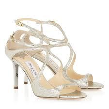 Wedding Shoes Jimmy Choo Elegant Champagne Glitter Strappy Sandals Ivette Jimmy Choo