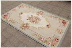3x5 light blue cream french aubusson area rug shabby pink chic