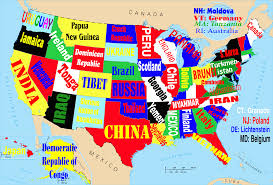 Unites States Map by This Map Shows The United States If Each State Were Named For The