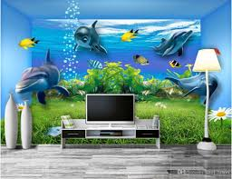 3d room wallpaper custom photo mural underwater world space