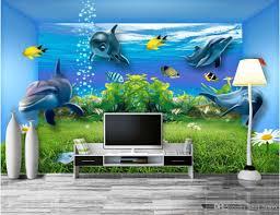 3d room wallpaper custom photo mural underwater world space