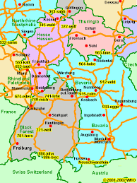 map of deutschland germany individual castle trip through south germany road