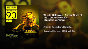 this is halloween in the style of the countdown kids karaoke
