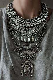silver fashion statement necklace images Statement necklace handcrafted judah silver clear crystal jpg