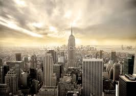 city wallpaper skyline wall murals wallsauce manhattan mural wallpaper