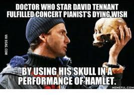 David Tennant Memes - doctor who star david tennant fulfilled concert pianist s