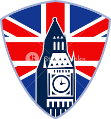 England Flag Jpg London Big Ben Clock Tower British Flag Royalty Free Stock Image