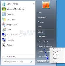 Resume From Hibernation Windows 7 Start Menu Difference Between Sleep And Hybrid Sleep