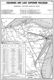 Lake Superior Map The Escanaba U0026 Lake Superior Railroad