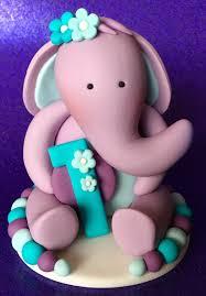 edible 3d fondant baby elephant cake topper birthday cake