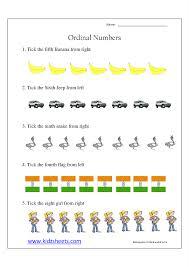 kidz worksheets kindergarten ordinal numbers worksheet6