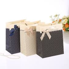 gift bags for wedding 12pcs polka dot paper bags with ribbon handle paper gift bags for