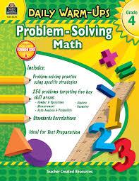 daily warm ups problem solving math grade 4 tcr3578 teacher
