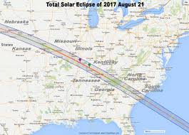 Map Of The Eastern United States by Total Eclipse Of The Sun August 21 2017
