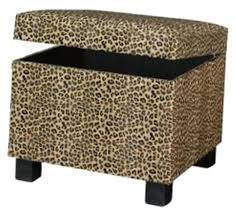 Animal Print Storage Ottoman Charming Leopard Print Ottoman Home Leopard Animal Print