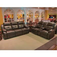 Leather Sofa And Loveseat Recliner by Reclining Leather Sofa U0026 Loveseat Set W Power Troy Sl Troy Brown