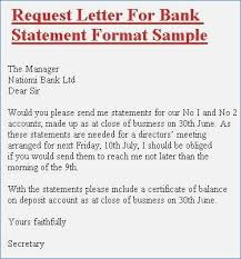 Request Letter Of Bank Statement bank statement request letter format sle premierme luxury