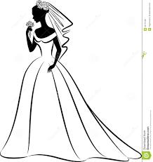 margarita outline elegant bride clipart 19