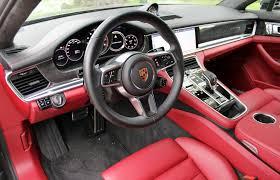 Panamera Red Interior Car Review 2017 Porsche Panamera Turbo Driving