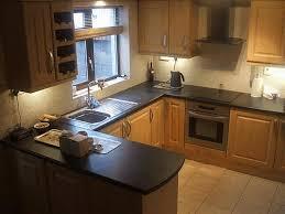 kitchen design u shape brass wall mounted hanging bar brown