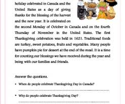 thanksgiving reading worksheets free worksheets library