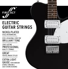 light electric guitar strings amazon com first act extra light electric guitar strings mx649