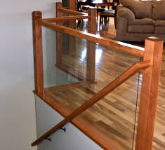 Wood Interior Handrails Ford Metro Glass Deck Railing Interior Railing And Glass Hand