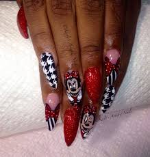 minnie mouse nails design nail art gallery